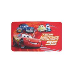 Disney / Pixar Cars Lightning McQueen Bath Mat, Red