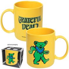 Grateful Dead Green Dancing Bear Mug NEW hippie  $10.99 via deadaheadgifts