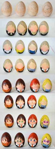 Celebrate Easter with a set of Harry Potter Easter eggs! A quirky craft for Harry Potter fans. And have you seen the egg-shaped Snape?