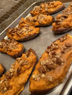 Add a bit of sweetness to your dinner sides this week with these yummy twice baked sweet potatoes topped with bourbon maple & walnuts. Sweet Potato Casserole, Sweet Potato Recipes, Veggie Recipes, Gourmet Recipes, Dessert Recipes, Drink Recipes, Desserts, Whole 30 Recipes, Great Recipes