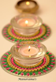 Your place to buy and sell all things handmade Diwali Craft, Diwali Diy, Diwali Rangoli, Diwali Decorations At Home, Festival Decorations, Wedding Decorations, Decorative Tile, Decorative Items, Tea Light Candles
