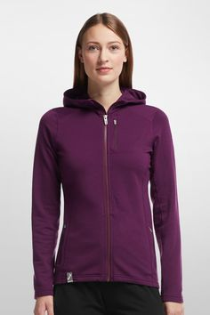 Icebreaker Womens Sprite Long Sleeve Crewe Top Large BlackJet HeatherStripe  -- More info could be found at the image url. | Camping Hiking Clothes | ...
