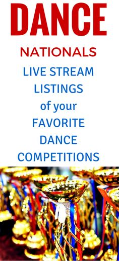 Links to Live Webcasts of National Dance Competitions