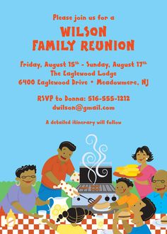 Family Reunion Flyer. Download edit and print, Part of Fimark's ...