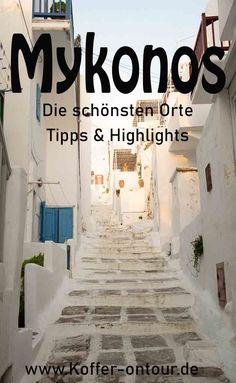 Planst du Urlaub auf Mykonos? Dann findest du hier alle Tipps, Highlights und Sehenswürdigkeiten der griechischen Insel. Schau mal rein damit du nichts verpasst! Tolle Hotels, Reisen In Europa, Mykonos, Highlights, German, Explore, Group, Board, Travel