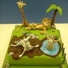 Madagascar Cake - Not Disney - but very cute!!