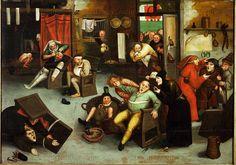 """""""Operando sulla pietra della pazzia"""" (Pieter Brueghel il giovane 1564-1638)"""