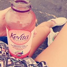 Starting the day with a #KeVita Strawberry Acai Coconut! #essentials @Sarah McLean