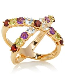 """A new take on the """"X"""" Ring: gemstones."""