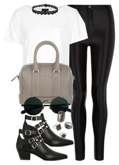 """""""Style #10883"""" by vany-alvarado ❤ liked on Polyvore featuring Topshop, Givenchy, Yves Saint Laurent and Forever 21"""