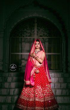 "Photo from album ""Wedding photography"" posted by photographer Danish Ahmad Red Lehenga, Bridal Lehenga, Saree Wedding, Wedding Dresses, Saree Gown, Wedding Preparation, Wedding Colors, Desi, Wedding Photography"