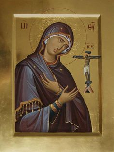 Delicate Fluidity: The Icons of Anton and Ekatarina Daineko – Orthodox Arts Journal Religious Images, Religious Icons, Religious Art, Byzantine Icons, Byzantine Art, Religious Paintings, Blessed Mother Mary, Best Icons, Art Icon