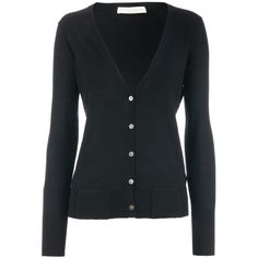 FTC Cashmere Black Cashmere Cardigan Stefanie ($375) ❤ liked on Polyvore