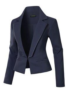 Beihxwe Women Business Coat Blazer Plus Size Blazer Casual Long Sleeve Tops Slim Jacket Coat Outfit Jacket Outwea