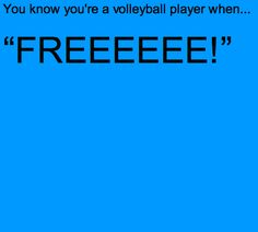 Only volleyball players get it...