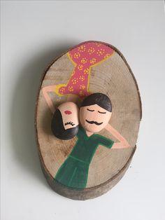 #art #gifts #taşboyama #painting #aşk #ağaç #kütük #stone