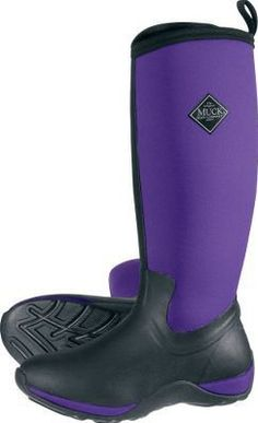 MuckBoots Women's Breezy Mid Prints Boot,Purple/Purple Flower,11 M ...