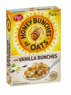 Honey Bunches of Oats with Vanilla Bunches Post Consumer Brands Honey Crunch, Breakfast In America, Best Cereal, Great Grains, Whole Grain Foods, Cereal Recipes, Oats Recipes, Fruit Smoothies, Mint Smoothie