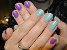 #combo #chinaglaze #nail #nailpolish #naillacquer #purple #mint #czechgirl #czechblogger