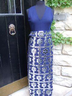 1970s Mod Style Futuristic Mylar Applique Knit Gown. $125.00, via Etsy.