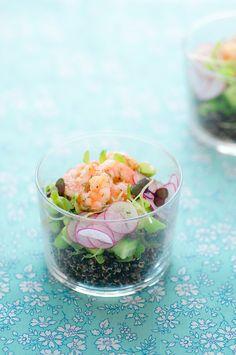 Shrimp Quinoa Salad & Blackberry-Peach Crumble w/ Lemon Verbena
