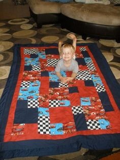 Lightening McQueen quilt 1