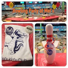 Enjoy a bowling birthday party package at Mel's Lone Star Lanes in Georgetown, TX.  Included is a FREE Mel's Kid's Club t-shirt and with our Gator Bash package, a bowling pin piggy bank is included for all their friends to sign.  #BirthdayParty #Bowling #Texas