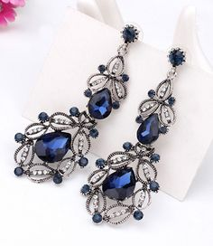 9 Colors Big Long Crystal Drop Earrings for Women Vintage Earrings Flower  Bohemian Style Fine Jewelry Wedding Accessories  Affiliate  0d449767bcca