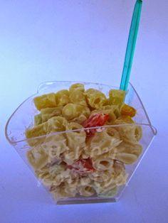 μικρή κουζίνα: Κρύα μακαρονοσαλάτα σε μπωλάκια για μπουφέ