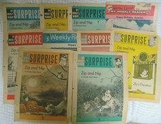 Vintage Lot of 10 WEEKLY READER Children's Newspapers 1962-63 RARE Zip Nip (07/12/2012)