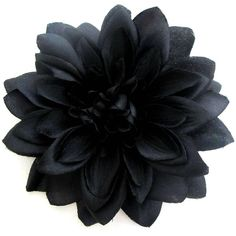 Large Black Dahlia Hair Flower Clip and Pin (58 RON) ❤ liked on Polyvore featuring accessories, hair accessories, black, flowers, flower hair accessories, rockabilly hair accessories and vintage hair accessories