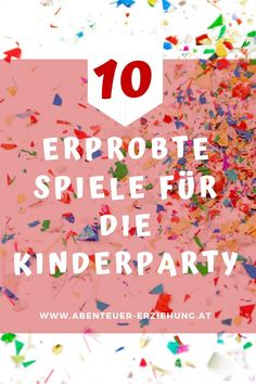 Not a Party without games! But the want to be carefully selected, because they must fit to the age and the composition of the small guests. I recommend. Preschool Games, Best Games, Games For Kids, Birthday Parties, Birthday Kids, Baby Kids, Children, Blog, Crafts