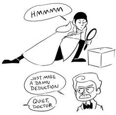 Spock and bones as Sherlock and Watson