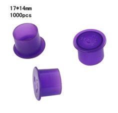 1000pcs Self-standing Ink Cups Purple 17mm