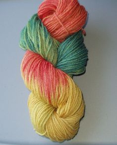 Wool Yarn Worsted Weight Hand Dyed   Multi by SunnyhillFiberDreams