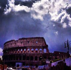 Fantastic sky over the Colosseum