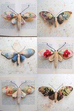 textile moth sculptures by Mr. Finch on Etsy