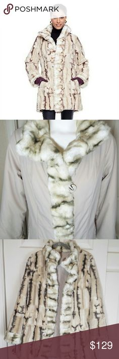 "Hal Rubenstein Faux Fur Coat Hal Rubenstein Comfortable Reversible ""Denise"" Faux Fur Coat . In excellent condition with tags and extra button. Hal Rubenstein  Jackets & Coats Puffers"