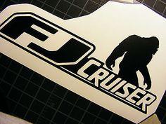 Toyota FJ Cruiser 4x4 Off Road Car Decal Sticker