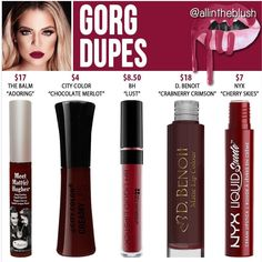 Kylie Cosmetics' shade from The Koko Collection in Gorg dupes
