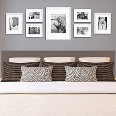Gallery Wall Frames, Frames On Wall, Wall Collage, Hanging Frames, Wood Frames, Gallery Walls, Art Gallery, Living Room Art, Living Room Designs