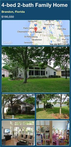 4-bed 2-bath Family Home in Brandon, Florida ►$190,550 #PropertyForSale #RealEstate #Florida http://florida-magic.com/properties/90735-family-home-for-sale-in-brandon-florida-with-4-bedroom-2-bathroom