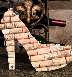Stiletto Heel - Cork - Personalized - Monogram - Art - Board - Trivet - Decor - Home - Vino - Gift - Wall - Corkboard by StateofWine on Etsy