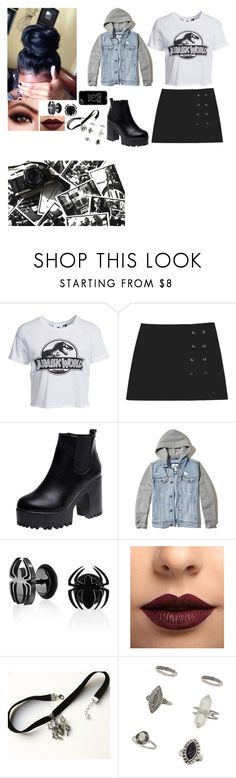 """Outfit"" by gabymyredis ❤ liked on Polyvore featuring New Look, Hollister Co., Bling Jewelry, LASplash, Miss Selfridge and Casetify"