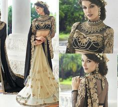 Lengha design Black and gold