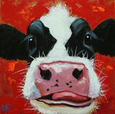 Drunken Cows - Whimsical Fine Art by Roz - Bilder - Tiere Cow Painting, Painting & Drawing, Cow Canvas, Canvas Art, Cow Drawing, Art Fantaisiste, Cow Pictures, Cow Pics, Farm Art