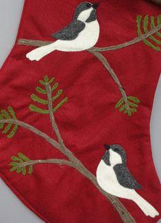 Bird Personalized Christmas StockingTwo by HeartfeltStockings