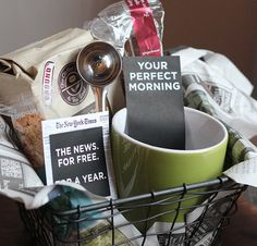 DIY Morning Coffee Gift Basket