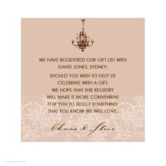 Wedding Gift List Note : 1000+ images about Baby registry wording on Pinterest Gift registry ...