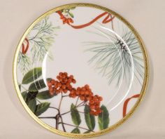 """Charter Club Dinnerware Classic Holly Berry Round Salad Plate Porcelain 9.5"""" #CharterClub"""